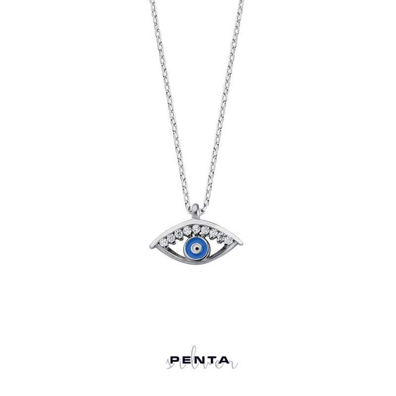 Mineli Göz Gümüş Kolye