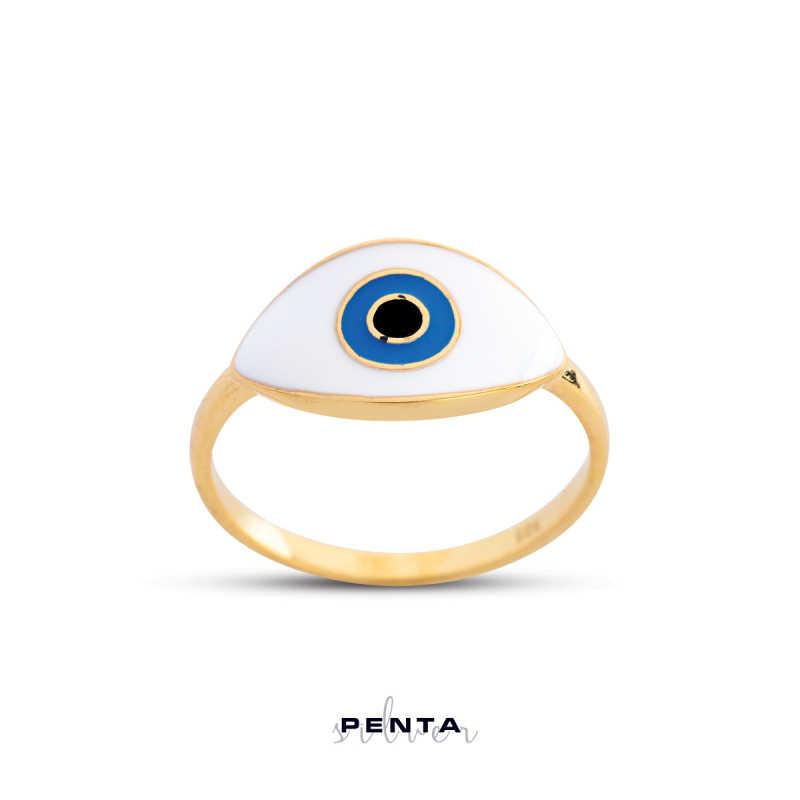 Mineli Göz Gümüş Yüzük