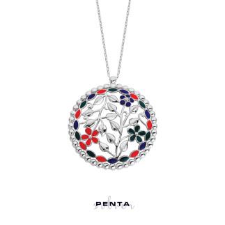 Penta Silver - Mineli Sarmaşık Gümüş Kolye (1)
