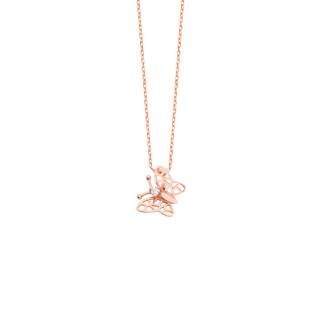 Minik Kelebek Gümüş Kolye - Thumbnail