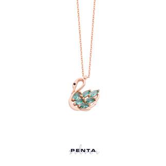 Penta Silver - Minik Kuğu Gümüş Kolye (1)