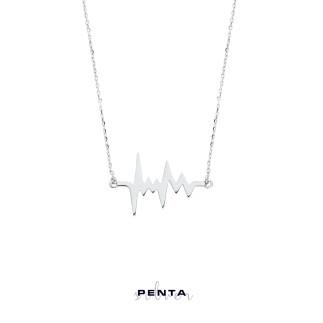 Penta Silver - Nabız Gümüş Kolye (1)