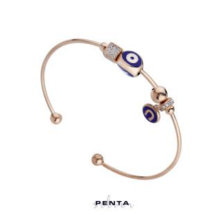 Penta Silver - Nal Motifli Kelepçe Gümüş Bileklik