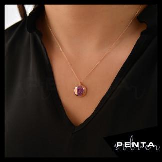 Penta Silver - Nar Gümüş Kolye (1)