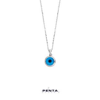 Penta Silver - Nazar Boncuğu Gümüş Kolye