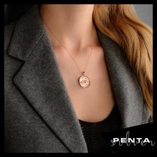 Penta Silver - Otantik Vav Gümüş Kolye (1)