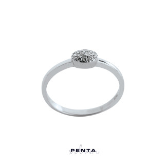 Penta Silver - Oval Stil Gümüş Yüzük