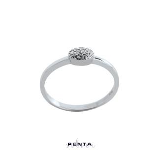 Penta Silver - Oval Stil Gümüş Yüzük (1)