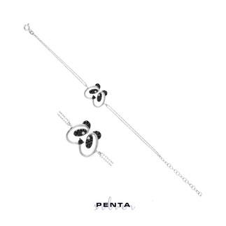 Penta Silver - Panda Gümüş Bileklik (1)