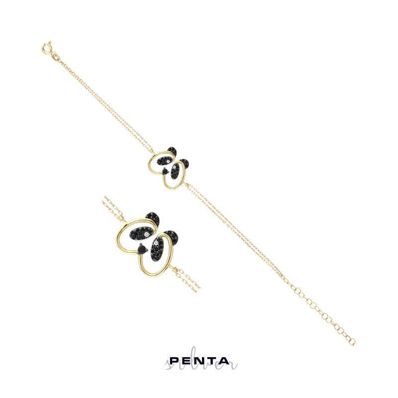 Panda Gümüş Bileklik