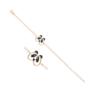 Panda Gümüş Bileklik - Thumbnail