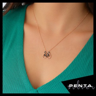 Penta Silver - Panda Gümüş Kolye