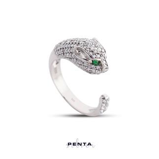 Penta Silver - Panter Gümüş Yüzük