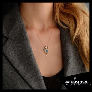 Penta Silver - Papağan Gümüş Kolye