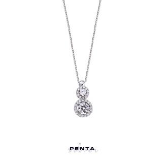 Penta Silver - Pırlanta Montür Anturaj Gümüş Kolye (1)