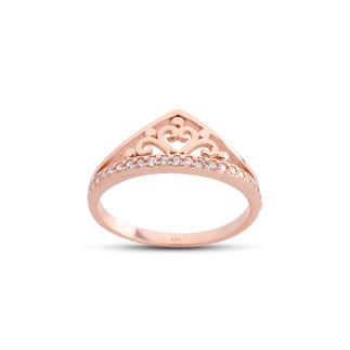 Prenses Tacı Gümüş Yüzük - Thumbnail