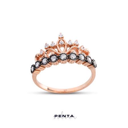 Prenses Tacı Rose Gümüş Yüzük
