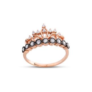 Prenses Tacı Rose Gümüş Yüzük - Thumbnail