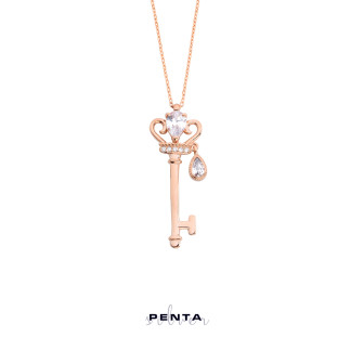 Prensesin Anahtarı Gümüş Kolye - Thumbnail