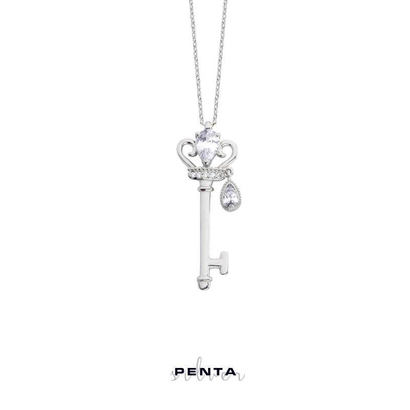Prensesin Anahtarı Gümüş Kolye
