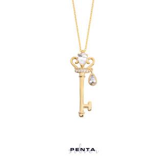 Penta Silver - Prensesin Anahtarı Gümüş Kolye (1)