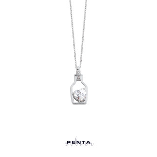 Penta Silver - Saklı Mesaj Gümüş Kolye (1)