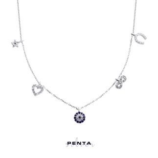 Penta Silver - Şans Gümüş Kolye (1)