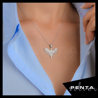 Penta Silver - Şans Meleği Gümüş Kolye (1)