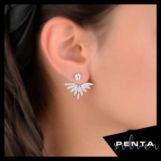 Penta Silver - Şans Meleği Gümüş Küpe