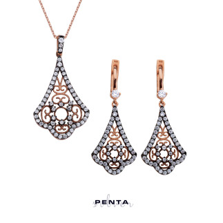 Saraylı Serisi Gümüş Takı Seti - Thumbnail