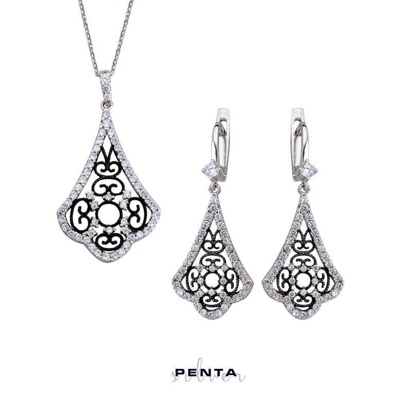 Saraylı Serisi Gümüş Takı Seti
