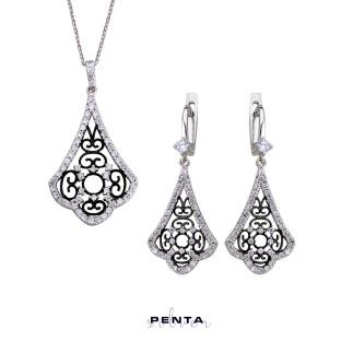 Penta Silver - Saraylı Serisi Gümüş Takı Seti (1)
