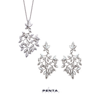 Penta Silver - Sarmaşık Gümüş Takı Seti