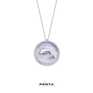 Penta Silver - Sedefli Yunus Gümüş Kolye (1)