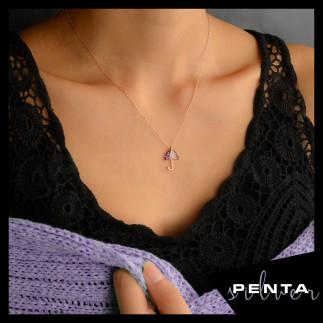 Penta Silver - Şemsiye Gümüş Kolye