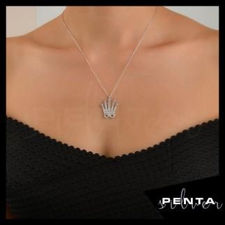 Penta Silver - Sonsuz Krallık Gümüş Kolye (1)
