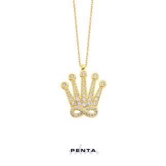 Sonsuz Krallık Gümüş Kolye - Thumbnail