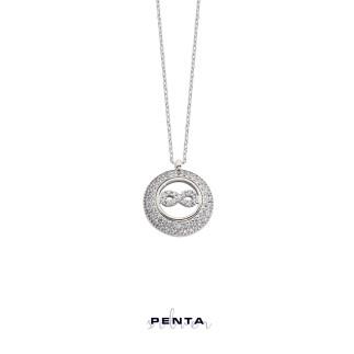 Penta Silver - Sonsuzluk Motifli Anturaj Gümüş Kolye
