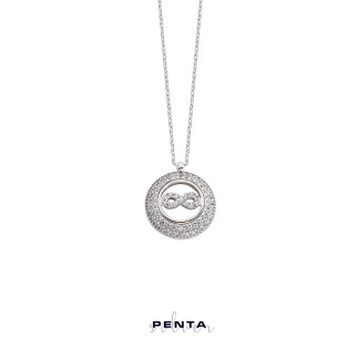 Penta Silver - Sonsuzluk Motifli Anturaj Gümüş Kolye (1)