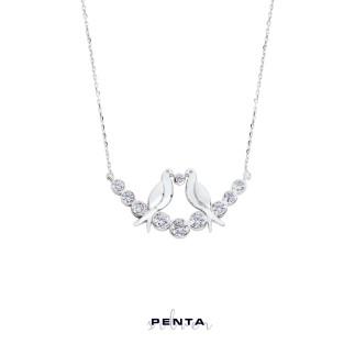 Penta Silver - Su Yolu Kuşlu Gümüş Kolye (1)