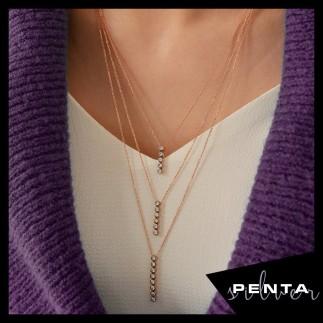 Penta Silver - Su Yolu Uzun Zincir Gümüş Kolye (1)