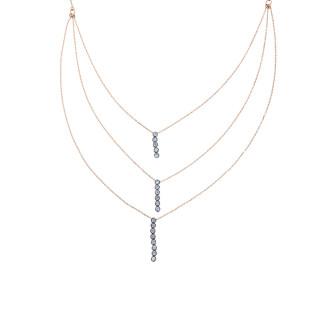 Su Yolu Uzun Zincir Gümüş Kolye - Thumbnail