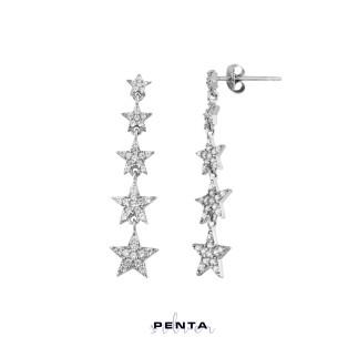Penta Silver - Takım Yıldızı Gümüş Küpe Beşli