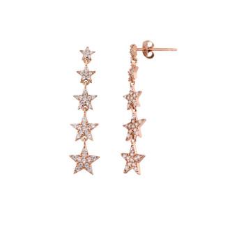Takım Yıldızı Gümüş Küpe Beşli - Thumbnail