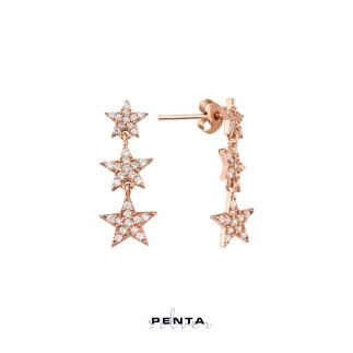 Takım Yıldızı Gümüş Küpe Üçlü - Thumbnail