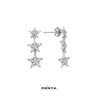 Penta Silver - Takım Yıldızı Gümüş Küpe Üçlü