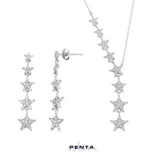Penta Silver - Takım Yıldızı İkili Gümüş Set