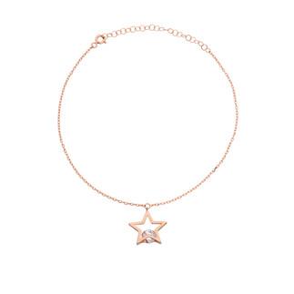 Taşlı Yıldız Gümüş Halhal - Thumbnail