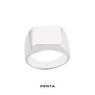 Penta Silver - Taşsız Stil Gümüş Yüzük (1)
