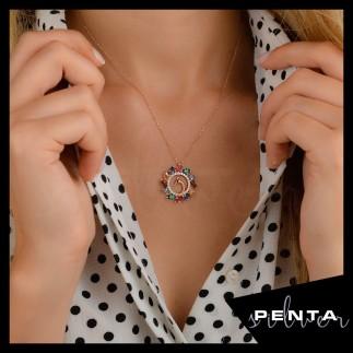 Penta Silver - Tavus Kuşu Gümüş Kolye